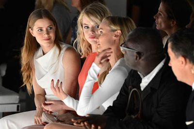 Across the pond, actors Amy Adams, Emma Stone and Diane Kruger attend the Calvin Klein Collection Spring 2013 show in New York.