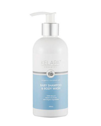 """<a href=""""https://www.nourishedlife.com.au/kids-bath-products/68447/kelapa-baby-shampoo-body-wash.html"""" target=""""_blank"""">Kelapa Organic BabyShampoo & Body Wash, $21.95.</a><br>"""