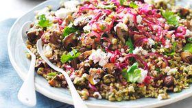 Mushroom and ancient grain salad recipe