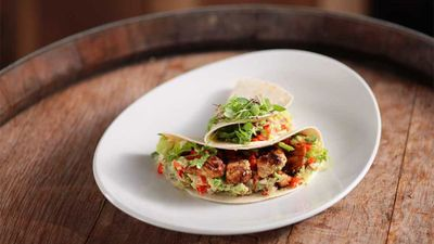"""<a href=""""http://kitchen.nine.com.au/2017/03/22/13/01/danny-green-spicy-fish-tacos"""" target=""""_top"""">Danny Green's spicy fish tacos</a><br /> <br /> <a href=""""http://kitchen.nine.com.au/2016/06/06/21/34/not-your-typical-tacos"""" target=""""_top"""">More taco inspiration</a>"""