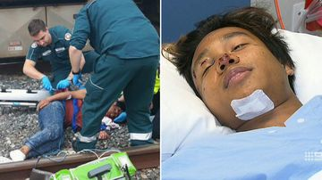 'I was in my own world': Teen hit by train 'distracted' by phone