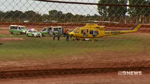 Emergency services rushed over to help Kurtis Blackburn with initial fears he had suffered a serious spinal injury.