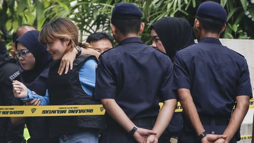 The accused arrive in a Malaysian court. (Reuters)