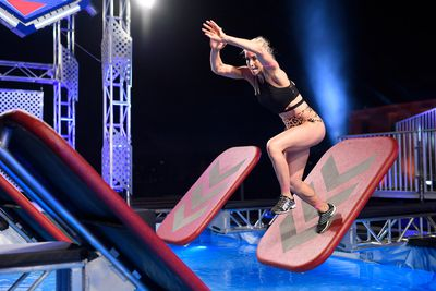 Sheena-Lauren Steinert was cautious on the first obstacle, taking her time.