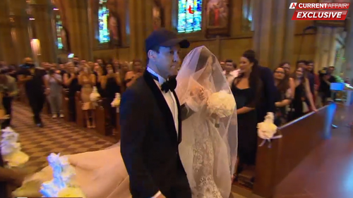 He even walked Jessica down the aisle.