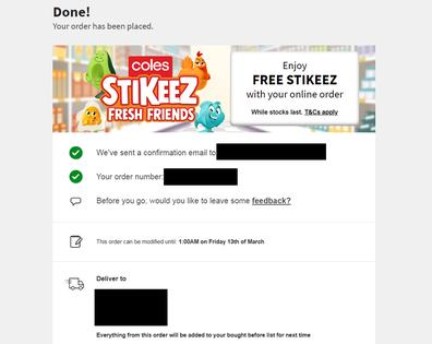 Online grocery order coronavirus