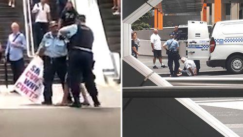 Sydney activist Danny Lim was arrested at Barangaroo last Friday morning.