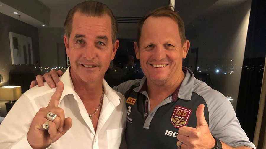 'Coach whisperer' Bradley Charles Stubbs with Kevin Walters.
