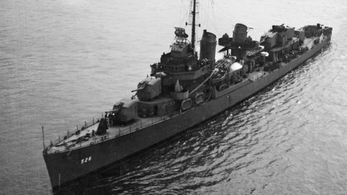 This undated photo, provided by the US National Archives, shows the destroyer USS Abner Read in World  War II.