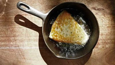 <p>The Apollo's saganaki cheese with honey and oregano</p>