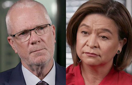 Former ABC chairman Justin Milne and former ABC managing director Michelle Guthrie.