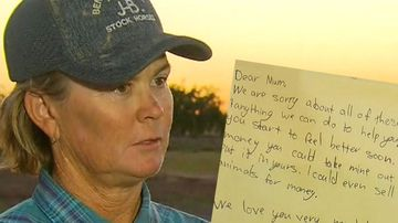 Jaye Hall and the letter written by her children