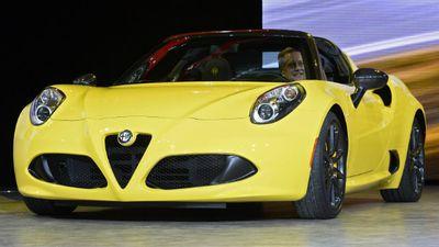 The Alfa Romeo 4C Spider. (AAP)