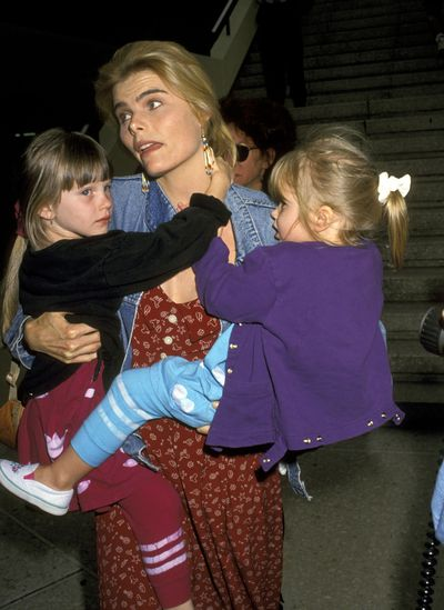 Then: Mariel Hemingway with daughers Dree and Langley in the early 1990's.