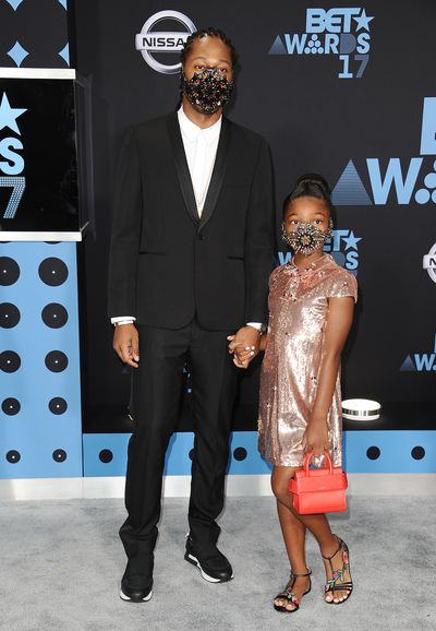 <p>With Beyonce on maternity leave, the annual BET Awards in Los Angeles took a stylish step back until rapper Future hit the red carpet with his 8-year-old daughter Londyn Wilburn in matching masks.</p> <p>The bejewelled accessories could be a less than subtle nod to the performer's hit single Mask Off but presenting a confronting image in the fashion stakes.</p> <p>Masks have appeared on the runway at Margiela in Paris and last year Toni Maticevski stunned the Australian Fashion Week front row with models wearing mouth covers but this is a first in father and daughter looks.</p> <p>Offering more conventional looks in the style stakes were Jada Pinkett-Smith in Alexandre Vauthier and Solange Knowles with striking Jennifer Fisher jewellery, on her hands rather than her face.</p>