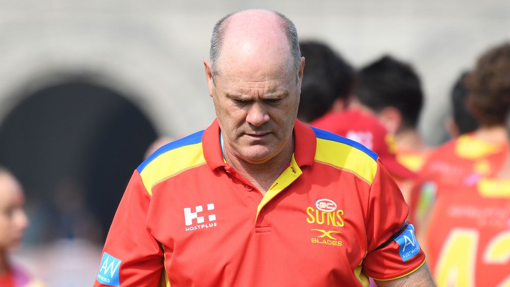 Gold Coast Suns sack coach Rodney Eade after disappointing AFL season