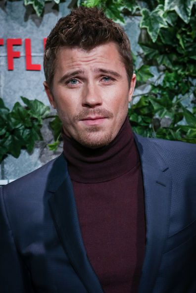 Actor Garrett Hedlund attends the Triple Frontier premiere at Callao Cinema in 2019 in Madrid, Spain.