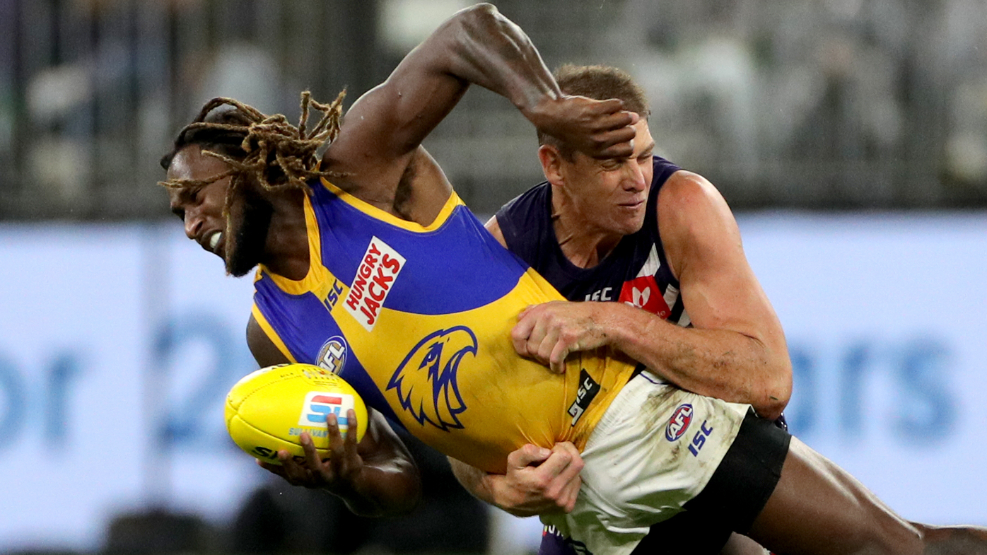 Nic Naitanui stars as West Coast Eagles thrash Fremantle Dockers in western derby