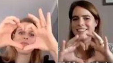 Princess Eugenie and Princess Beatrice Teenage Cancer Trust video call