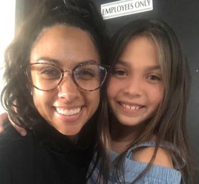 Proud mum Naomi Pacheco with her daughter Rhythm, 10.