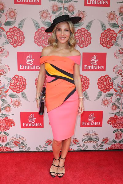 Elsa Pataky, wife of Thor actor Chris Hemsworth in the Emirates marquee wearing Cappellazzo Couture.