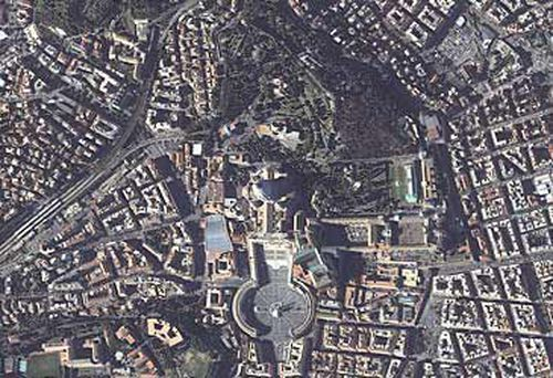 Aerial view of Vatican City (Getty)