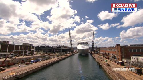The dry dock was built towards the end of WWII. (9NEWS)