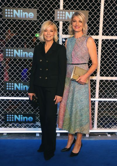 Liz Hayes and Tara Brown at the 2019 Nine Upfronts, Sydney, October 17, 2018