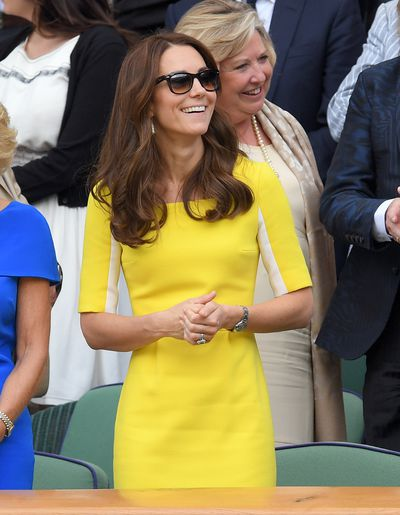 The Duchess of Cambridge Kate Middleton inRoksanda Ilincic during day ten of the Wimbledon Tennis Championships at Wimbledon in London, England, July, 2016