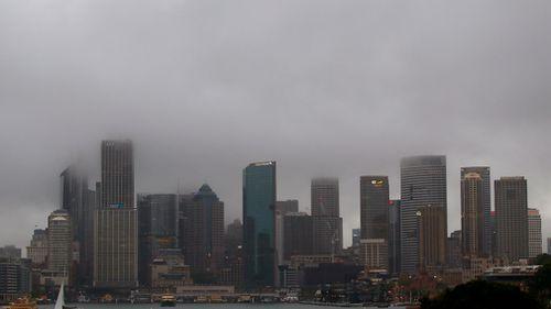 Rain in Sydney last weekend. (AAP)
