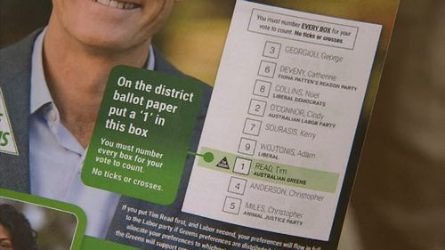 How-to-vote cards were at the ready when early polling centres opened today.