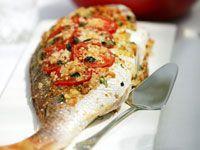 Baked whole fish