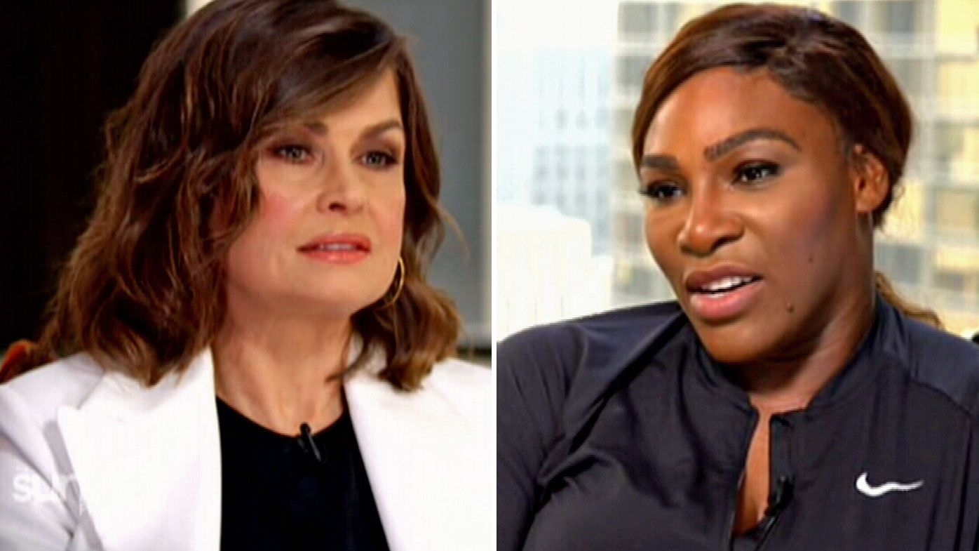 Lisa Wilkinson (l) and Serena Williams (r)