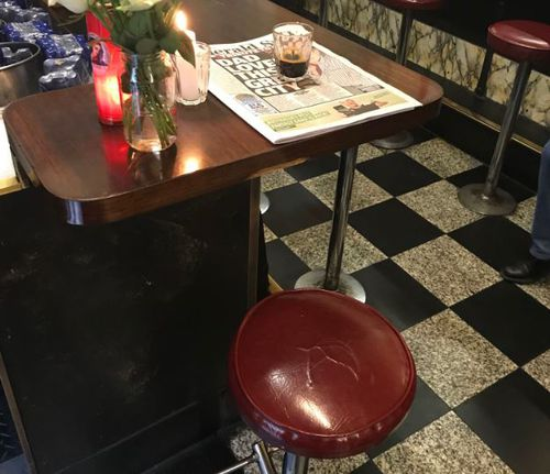 Sisto's stool at the end of the bar was left empty this morning in the packed restaurant.
