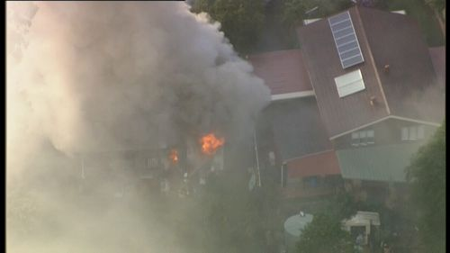 The fire is under control with crews working to extinguish the blaze. (9NEWS)