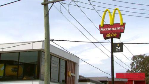 Cash was stolen from a McDonald's in Cheltenham.