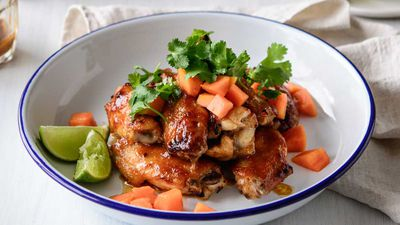 Sticky papaya chicken wings