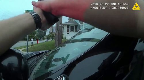 The Grand Rapids Press posted police body camera footage of the August 26 encounter along a street in the Michigan city of Grand Rapids.