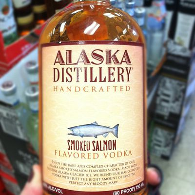 <p>Ever had a shot of Vodka and thought 'this needs more fish'? Well the people at Alaska Distillery heard you and have created the drink we all wanted - Smoked Salmon Flavoured Vodka. At last, I have something to drink while watching re-runs of 'Ice Road Truckers' in my underpants.</p> <p>Image Source: Instagram:rionarawr</p>