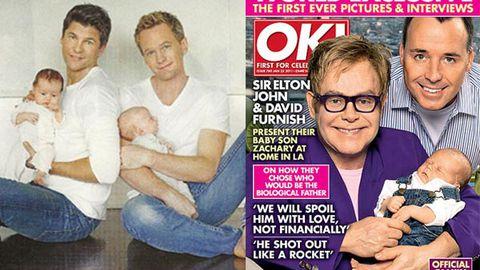 Gay dads Elton John and Neil Patrick Harris