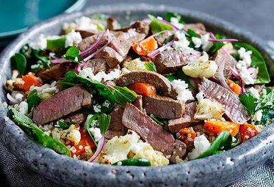 Lamb salad and quinoa
