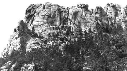 The Lakota people knew the mountain as Six Grandfathers, before it was largely demolished to make Mount Rushmore.