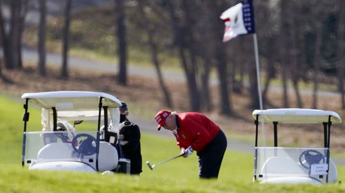 Donald Trump spent Thanksgiving playing golf at one of his private country clubs.