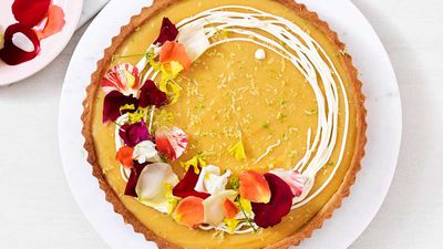 Lemon lime and bitters tart