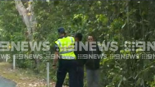 The group is on the run in the croc infested Rainforest. Picture: 9NEWS