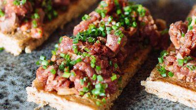 Adam Liaw's carne de onca 'Tiger Meat' (Brazilian beef tartare)