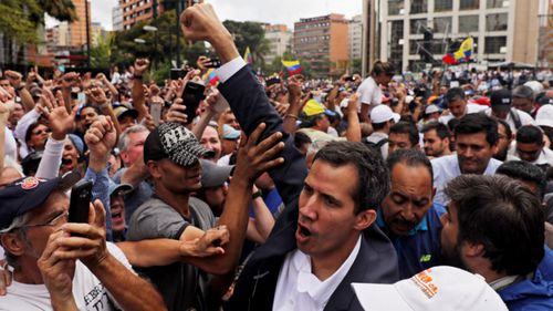 Opposition leader Juan Guaido declared himself Venezuela's interim president.