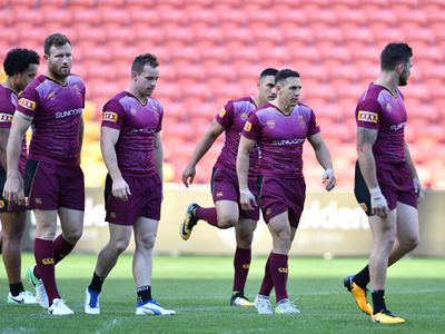 An injury-hit Queensland side trains for the decider.