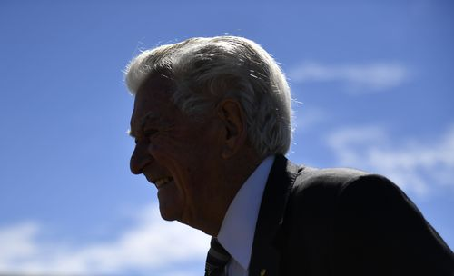 Mr Hawke was the most successful Labor leader, taking the party to four straight federal election wins. (AAP)