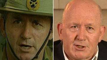 Sir Peter Cosgrove, 20 years apart.